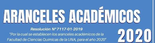 Aranceles Académicos 2020