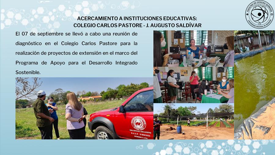 ACERCAMIENTO A INSTITUCIONES EDUCATIVAS: COLEGIO CARLOS PASTORE – J. Augusto Saldívar