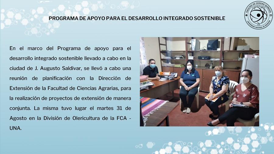Programa de APOYO PARA EL DESARROLLO INTEGRADO SOSTENIBLE